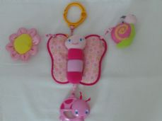 Adorable Baby 'Butterfly' Bright Starts Plush Pram Toy